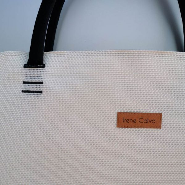 Bolso Samoa shopping color blanco vista detalle