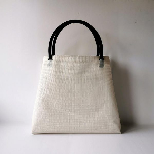 Bolso Samoa shopping color blanco vista espalda