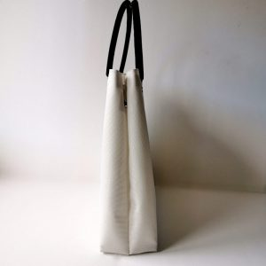Bolso Samoa shopping color blanco vista lateral