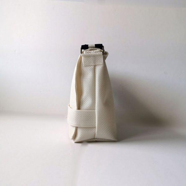 Bandolera 507 color blanco vista lateral