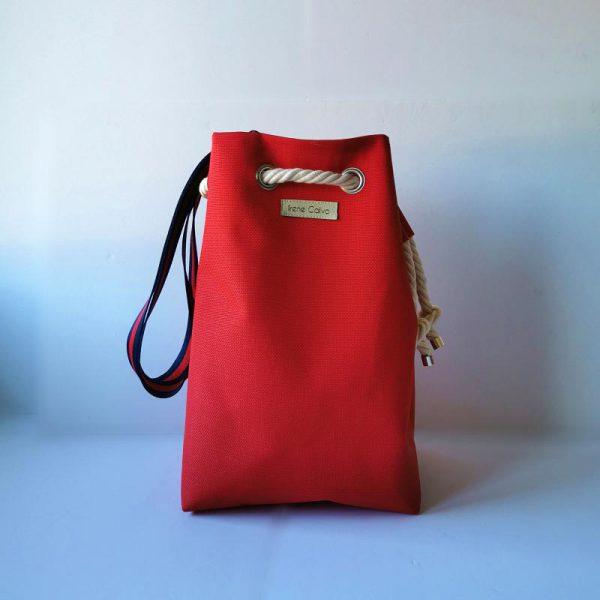 Bolso saco, color rojo