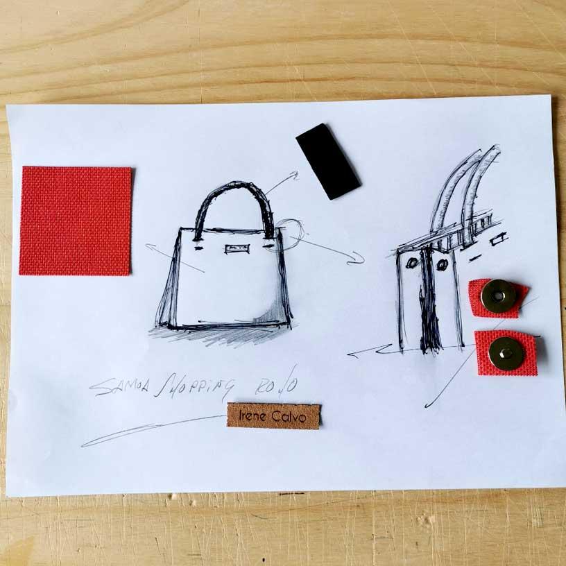 Boceto de bolsos de Irene Calvo